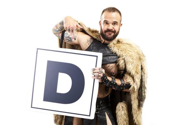 Dave The Bear holds a D