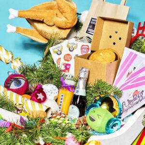 A sleigh of Christmas goodies